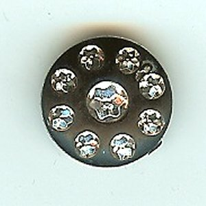 Black Diamante Button 15mm - 5540
