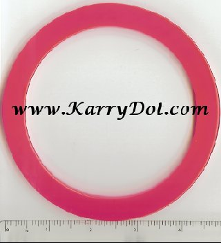 Circular Bag Handle - Fluroscent Pink