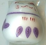 Hand Painted Porcelain Lucky Cat Bead - 013