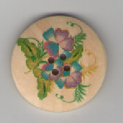 Painted Wooden 4 hole Button B15