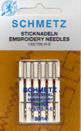 Schmetz Embroidery Needles 90/14