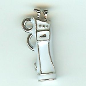 White Enamelled Golf Bag Charm