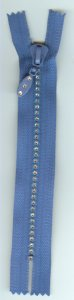 "6"" Rhinestone Zipper - Royal Blue"