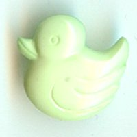 Green Duck Button B200123