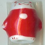 Hand Painted Porcelain Lucky Cat Bead - 002