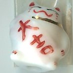 Hand Painted Porcelain Lucky Cat Bead - 026