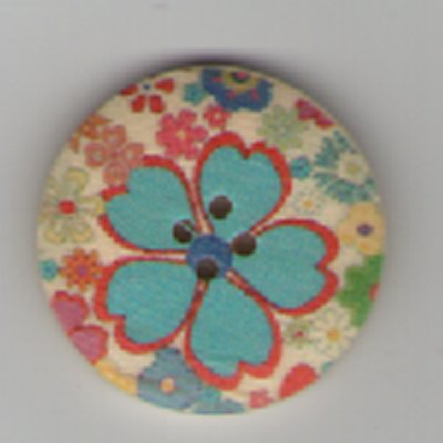 Painted Wooden 4 hole Button B11